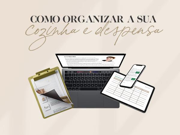 Capa do Curso  Como Organizar a Sua Cozinha & Despensa