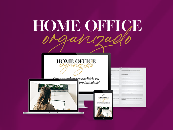 Capa do Curso  Home Office Organizado - Planner