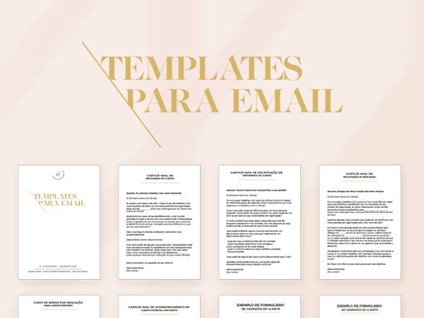 Capa do Curso Templates de Email