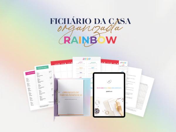 Capa do Curso  2021 Fichário da Casa Organizada Rainbow